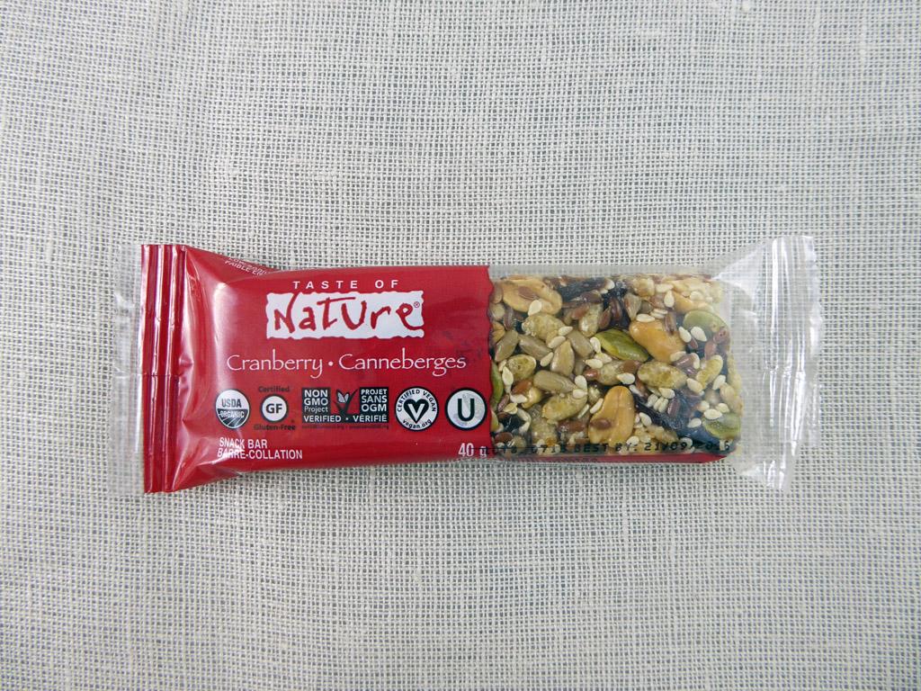"Batonėlis ""Taste of Nature: Cranberry"""