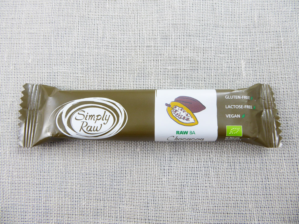 """Batonėlis Simply Raw: Chocacoa (""""Šokoladinė kakava""""), 40 g"""