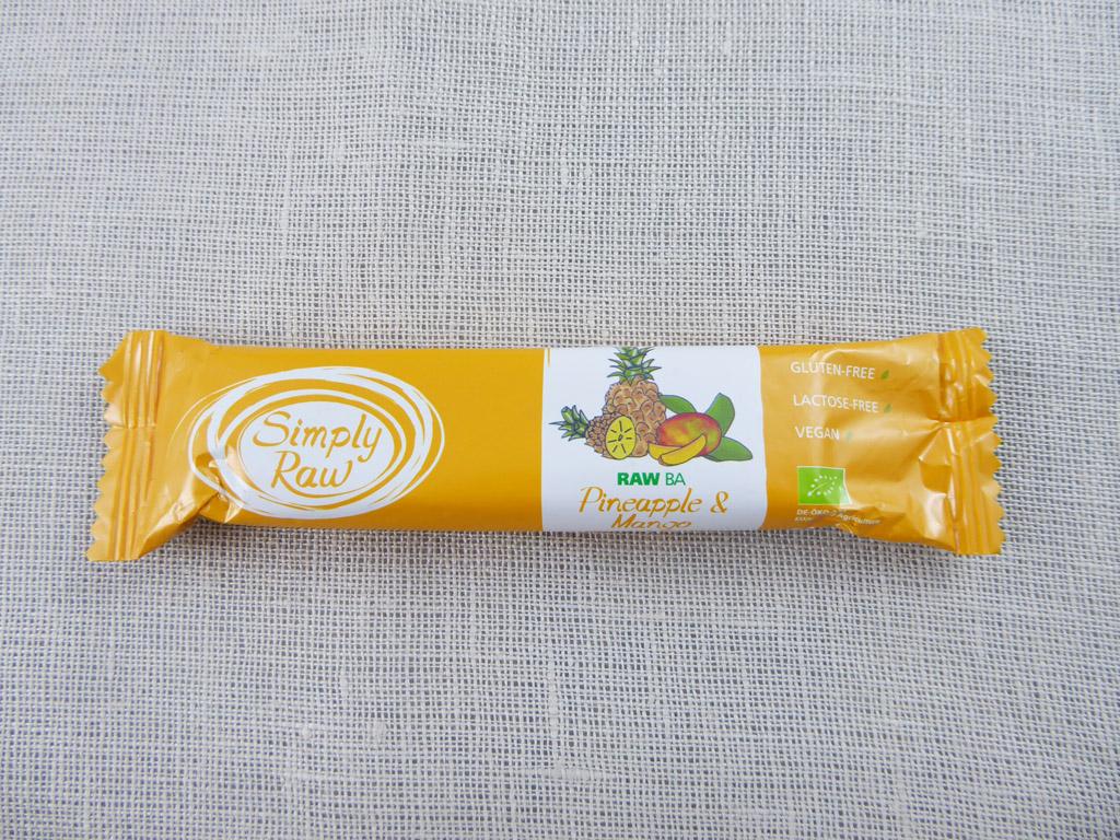 Batonėlis Simply Raw: Pineapple & Mango (Ananasai ir mangai), 40 g