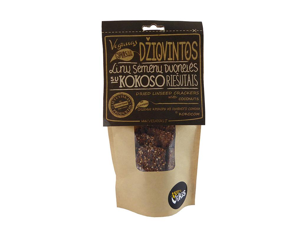 """""""Veganas"""" linų sėmenų duonelės su kokoso riešutais"""