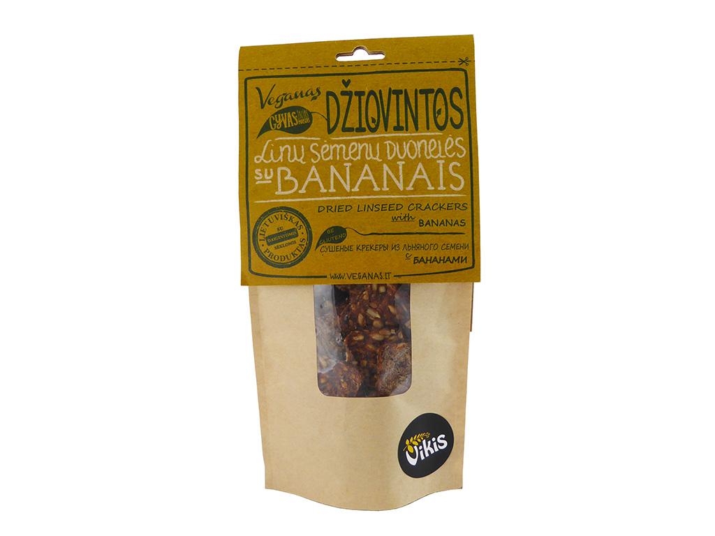 """""""Veganas"""" linų sėmenų duonelės su bananais"""