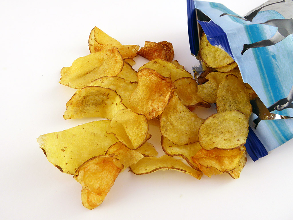 Tyrrell's: Lightly Sea Salted Crisps (Bulvių traškučiai, lengvai sūdyti jūros druska)