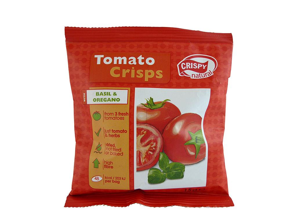 Crispy Natural: Tomato Crisps (Pomidorų traškučiai su baziliku ir raudonėliais)