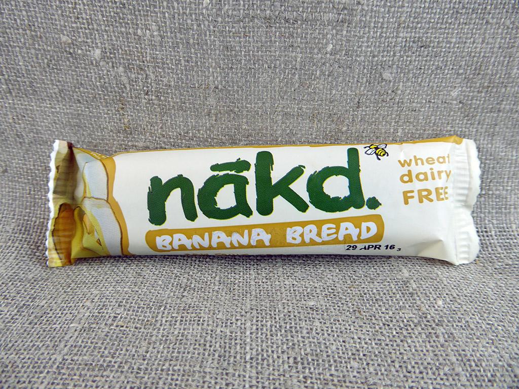 """Batonėlis """"Nakd: Banana Bread"""" (Traškus batonėlis su bananais)"""