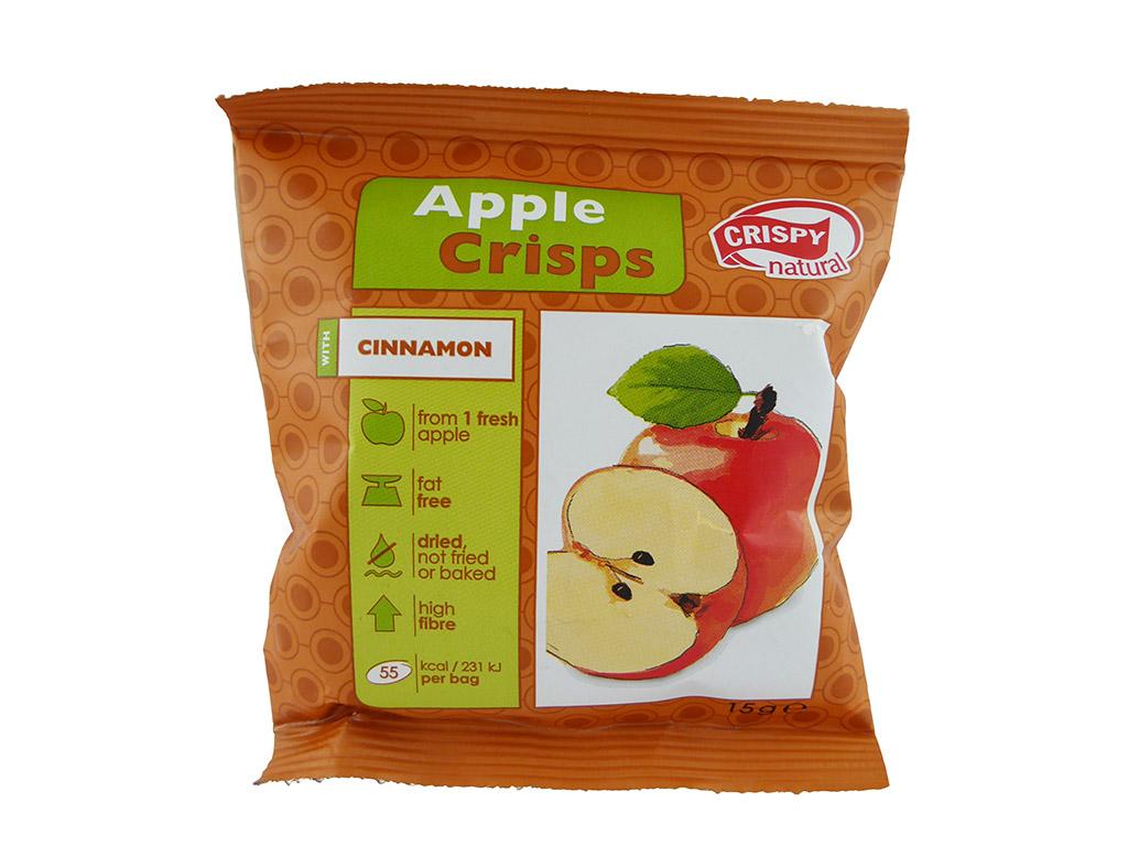 Crispy Natural: Apple Crisps (Obuolių traškučiai su cinamonu)