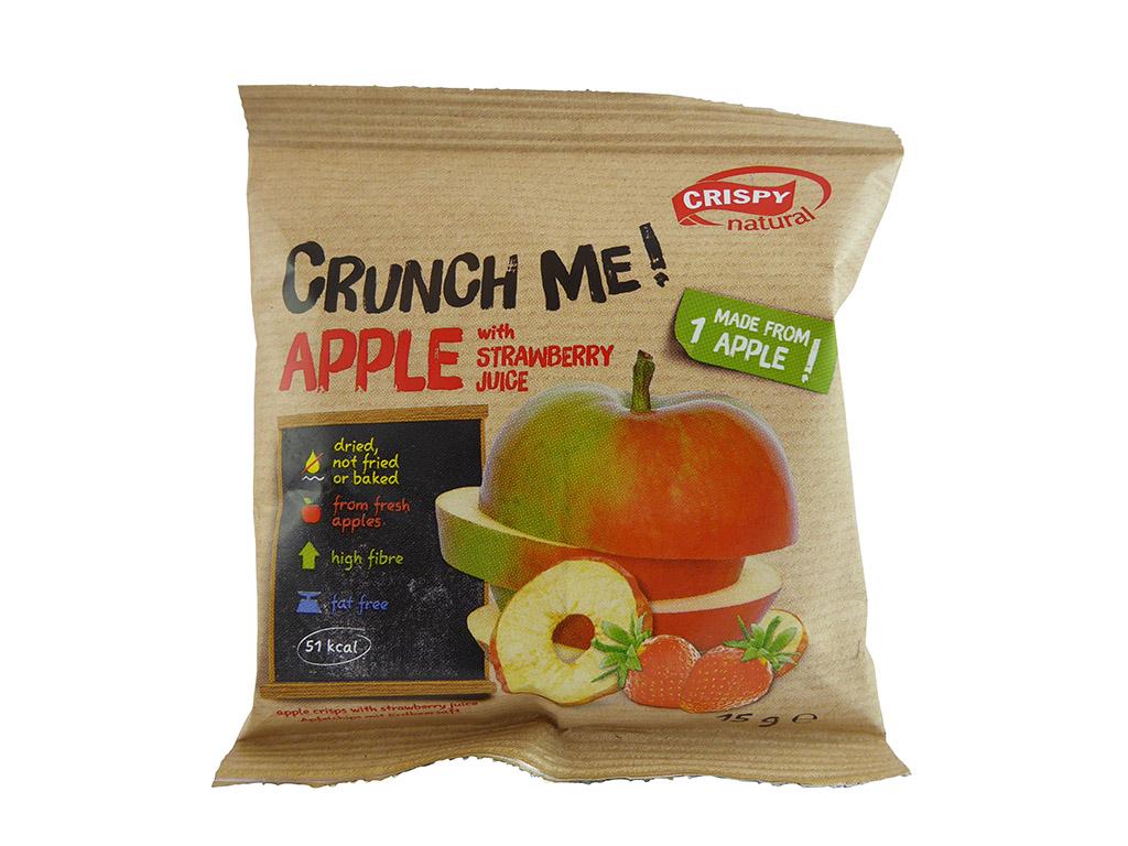 Crispy Natural: Apple with Strawberry Juice (Obuolių traškučiai su braškių sultimis)