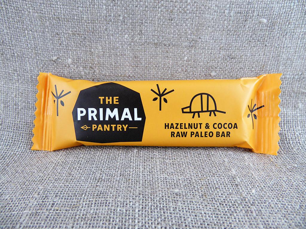 """Batonėlis """"The Primal Pantry: Hazelnut & Cocoa"""" (Lazdynų riešutai ir kakava)"""