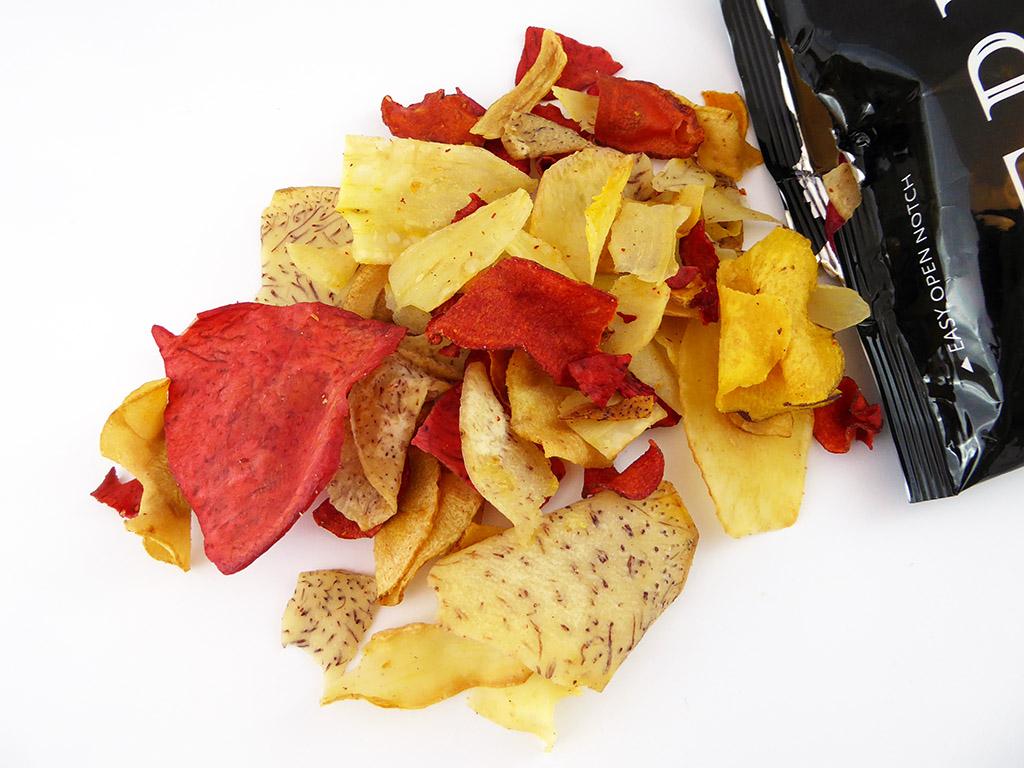 Terra: Real vegetable chips (Egzotiški daržovių traškučiai su jūros druska)