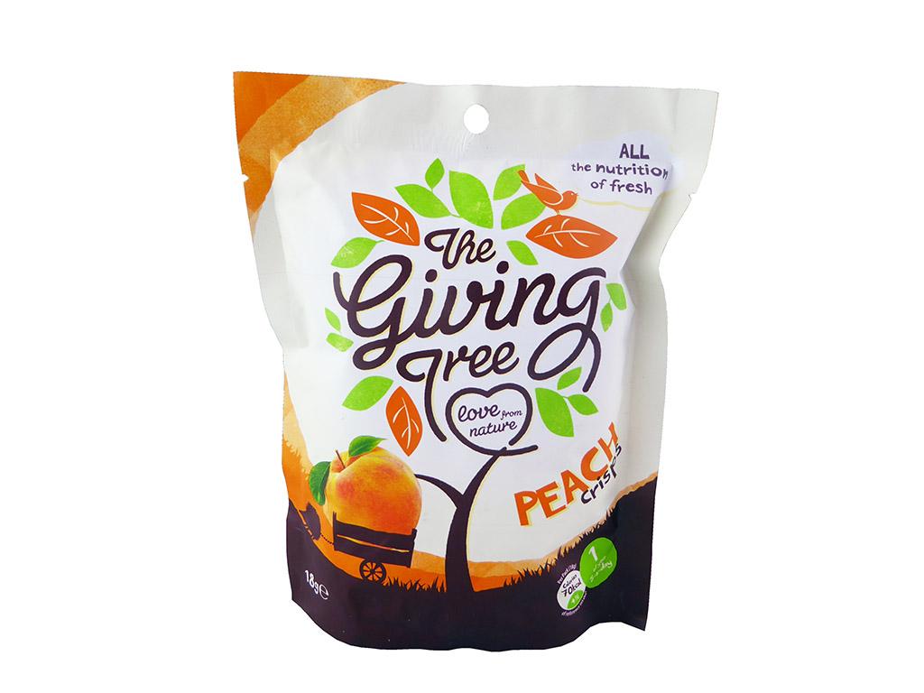 The Giving Tree: Peach Crisps (liofilizuotos persikų skiltelės)