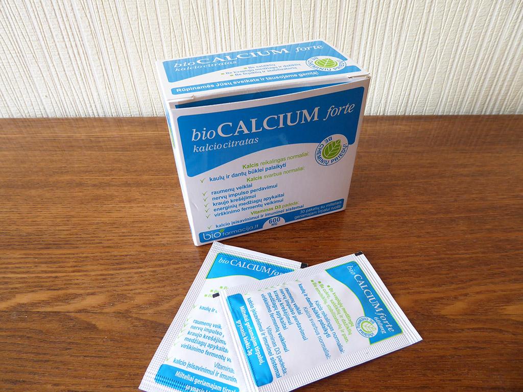 """Maisto papildas """"bioCalcium forte 600 mg"""""""