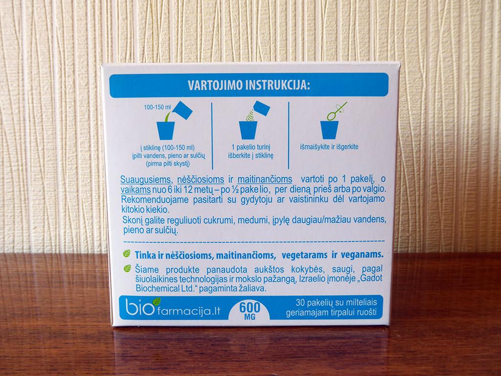 """Mineralas KALCIS: """"bioCalcium forte (600 mg, 30 pakelių)"""""""