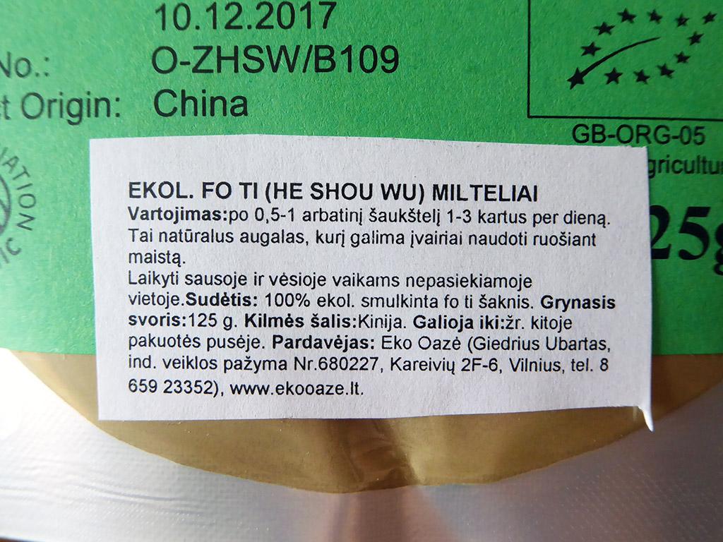 Fo-ti (He Shou Wu)