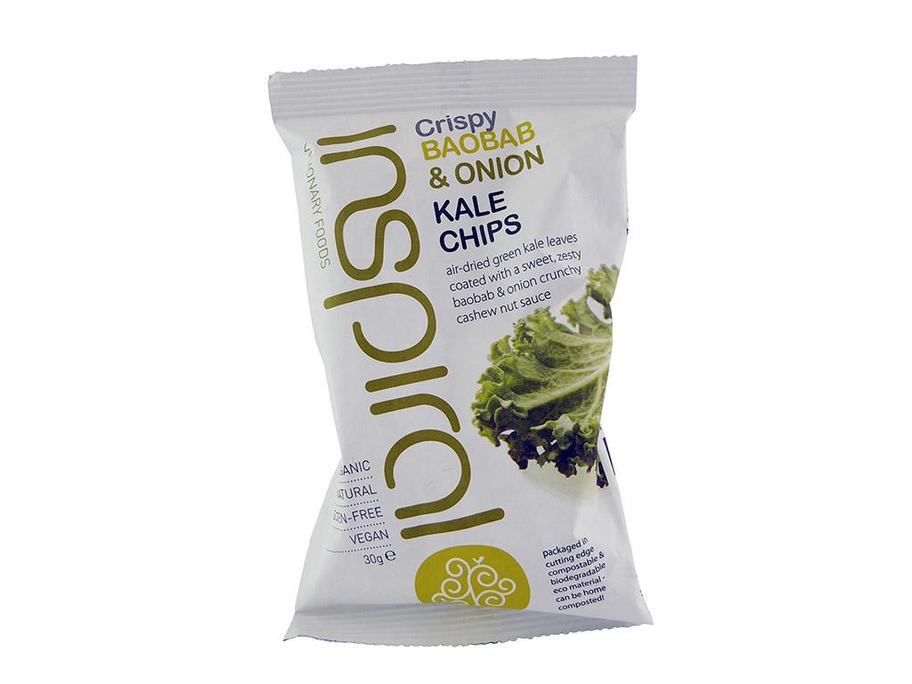 Inspiral: Baobab & Onion Kale Chips (Kale salotų čipsai su baobabu ir svogūnais)