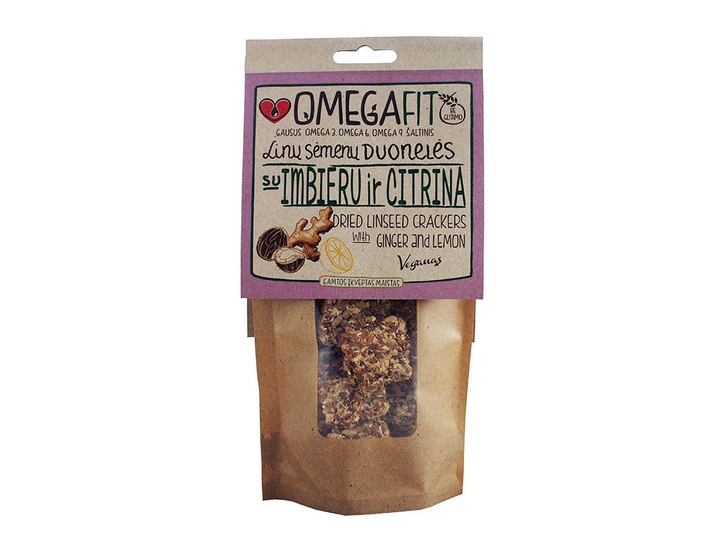 """""""Veganas"""" linų sėmenų duonelės su imbieru ir citrina"""